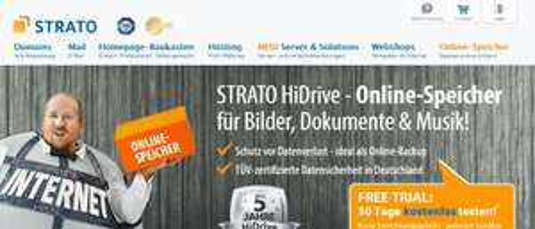HiDrive: Der Online-Speicher für Dateien, Bilder & Musik. 100GB für € 2/Monat