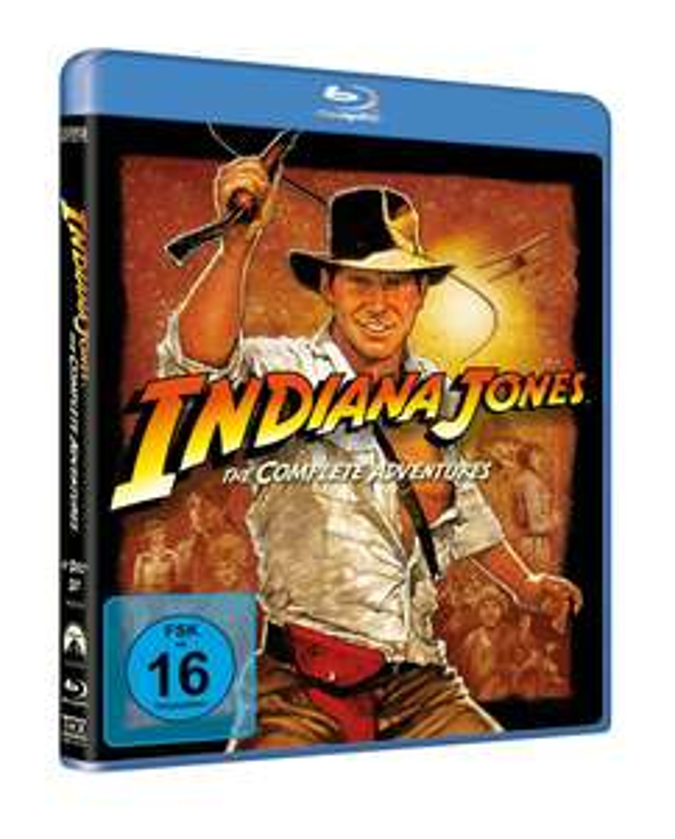 Thalia: Indiana Jones Box (Filme 1-4) (Blu-ray) für 11,30€