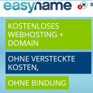 Gratis .AT/.EU/.COM Domain + 20 GB Webspace