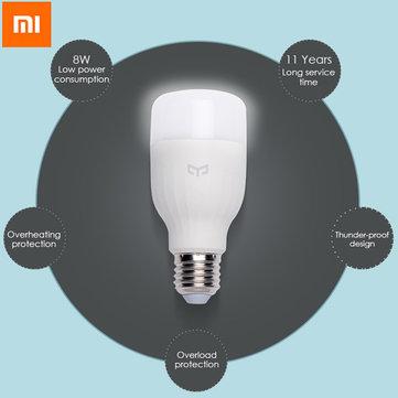 [Banggood] Original Xiaomi Mi Yeelight ( weiß) - per Smartphone kontrollierbare LED ( E27) für 9,01€