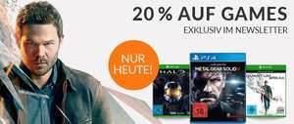 -20% auf alle Games nur heute!