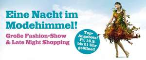Huma Eleven Late Night Shopping am 16. September - bis zu 70% Rabatt in vielen Shops