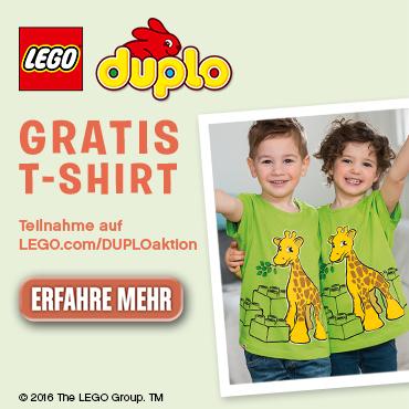 Lego-Aktion: Gratis T-Shirt erhalten