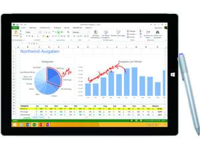 [mediamarkt.at] MICROSOFT Surface Pro 3 - 256 GB/8 GB-RAM für 739€