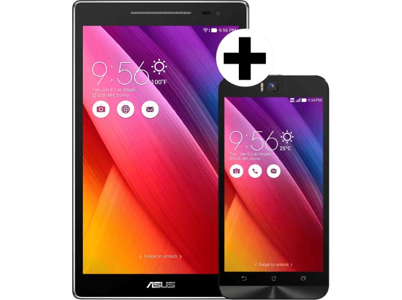 """[mediamarkt.at] ASUS ZenFone Selfie ( 5,5"""", 32GB, 3GB RAM) + ZenPad 8.0 ( 8"""", 16GB) für 289€ - 38% sparen"""