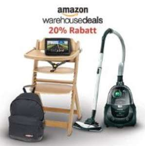 Amazon Warehouse Deals - 20% Extra-Sofort-Rabatt