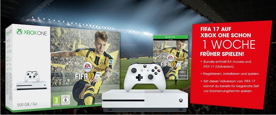 [Libro.at] XBOX  ONE S 1TB FIFA 17 (DLC) Bundle kaufen und 2. Controller GRATIS dazu bekommen