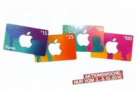 Post: 10% Rabatt auf alle iTunes Karten - 3.10.-8.10.2016