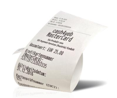 Post / Cash4Web - PrePaid-Kreditkarte auf Kassabon - 5 € geschenkt