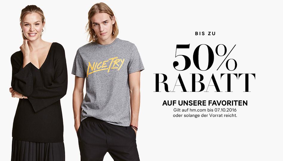 H&M: Bis zu 50% Rabatt auf ausgewählte Artikel + kostenloser Versand - nur bis zum 7. Oktober
