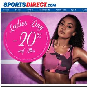 20% bei Sports Direct am 06.10. (Ladies Day)