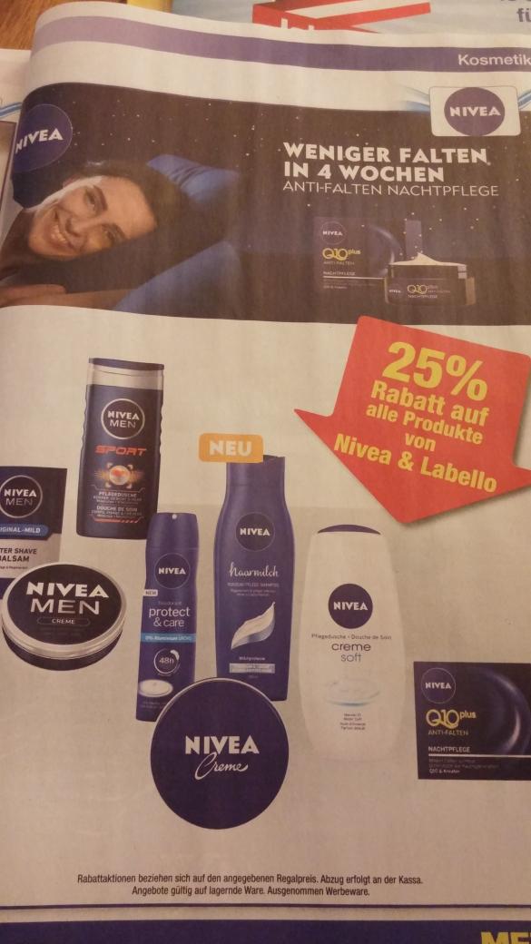 25% auf Nivea&Labello Produkte/Metro