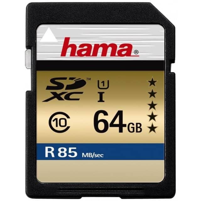 Hama SDXC UHS-I U3 85MB/s - 64GB für 25,21€ mit Prime