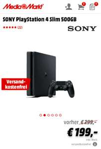 Media Markt DE / Amazon: PlayStation 4 Slim um 199 €