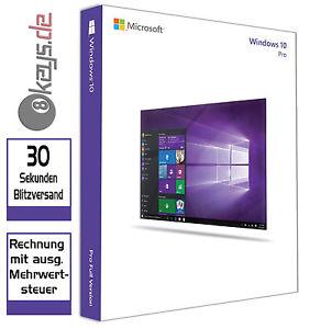 Microsoft Windows 10 Pro (DE) 32/64 Bit OEM Product-Key