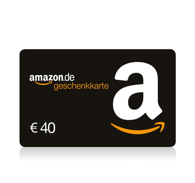 Amazon: 48 € Gutschein um 40 € - 17% sparen - bis 5.12.2016