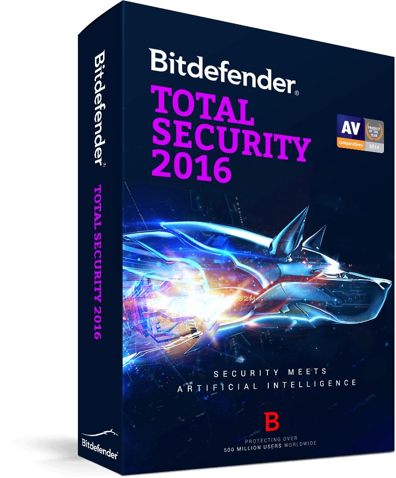 Bitdefender Total Security 2016 - 6 Monate kostenlos - 13 € sparen