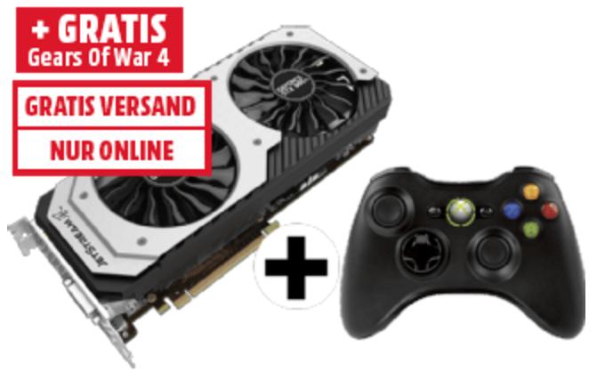 [mediamarkt.at] PALIT GeForce GTX 980 Ti Jetstream, 6GB GDDR5 + Xbox 360 Wireless Controller für 339€ - 26% sparen