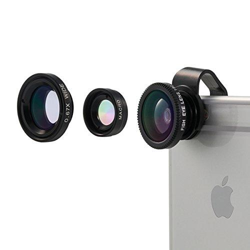 3 Kamera-Objektive (Fischauge, Weitwinkel und Micro) für iPhone mit Gutscheincode für 6,99 € statt 13,98 € @Amazon
