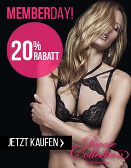 Hunkemöller Memberday: 20% Rabatt auf viele Artikel - nur bis zum 30. Oktober