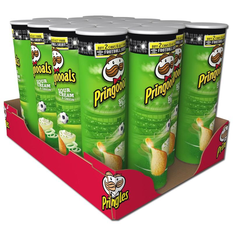 Pringles Sour Cream and Onion, 4er Pack (je Rolle um 1,32€)