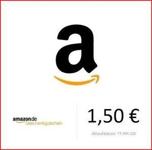 eBay: 1,50 € Amazon Gutschein um 1 €