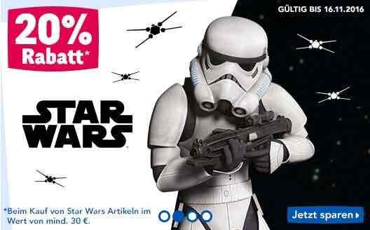 """[Toys""""R""""us] 20% auf Star Wars Artikel ab €30 Einkaufswert!"""