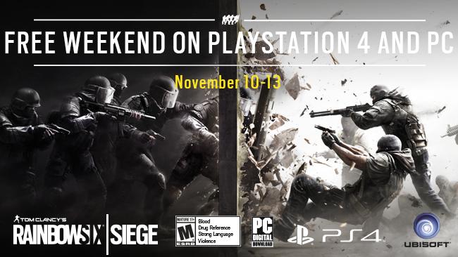 [PC][PS4] Rainbow Six Siege bis 13./14. November gratis spielen