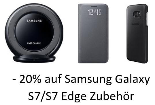[Amazon.de] 20% Rabatt auf Samsung Galaxy S7/S7 Edge Zubehör
