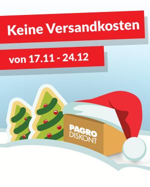 Pagro Diskont - kostenloser Versand auf Alles - bis 24.12.2016