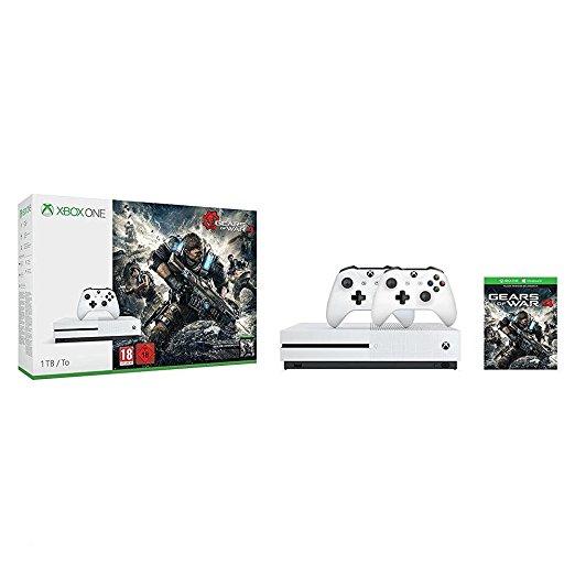 Xbox One S (1TB) + 2.Controller + Gears of War 4 um 289 € - 25% sparen
