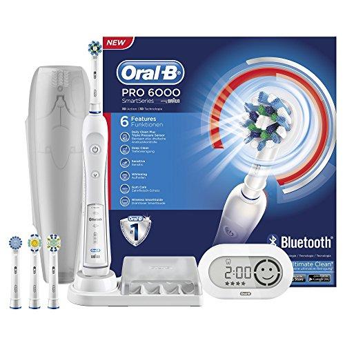 Oral-B White 6000 CrossAction Smart elektrische Zahnbürste (mit Bluetooth) Gratis Versand