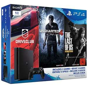 PlayStation 4 slim Konsole 1TB inkl Uncharted 4 + Driveclub + The Last of Us mit Versand