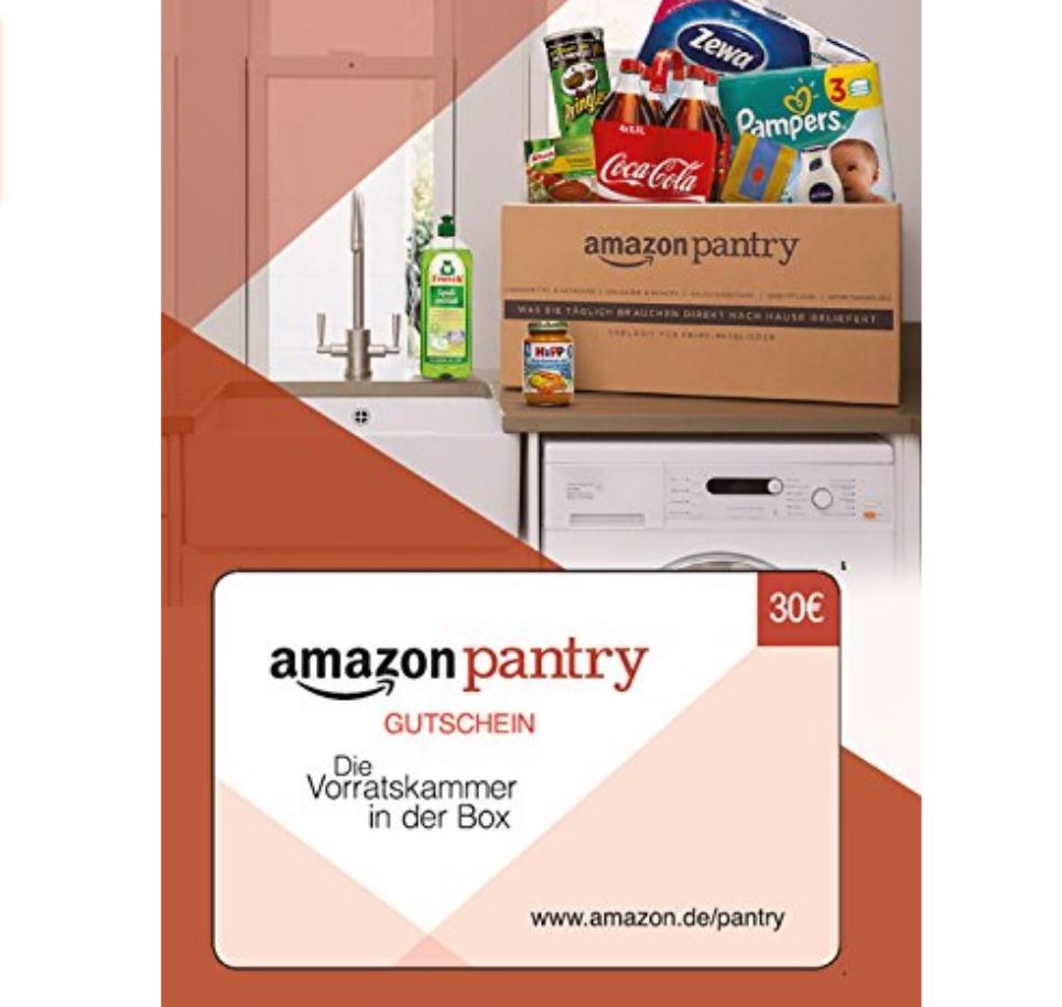 Amazon Pantry 30€ Gutschein für 20,17€