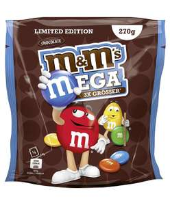 M&M´s MEGA Chocolate - Limited Edition, 5 Beutel (5 x 270 g) [Amazon Angebot des Tages]