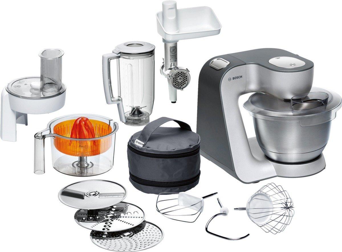 Amazon-Deal des Tages: Bosch MUM56340 Küchenmaschine Styline MUM5 (900 Watt, Edelstahl-Rührschüssel, Durchlaufschnitzler, Rühr-Schlagbesen und weiteres Zubehör) silber