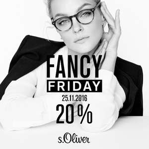 s.Oliver Fancy Friday: 20% Rabatt auf alles - nur am 25. November