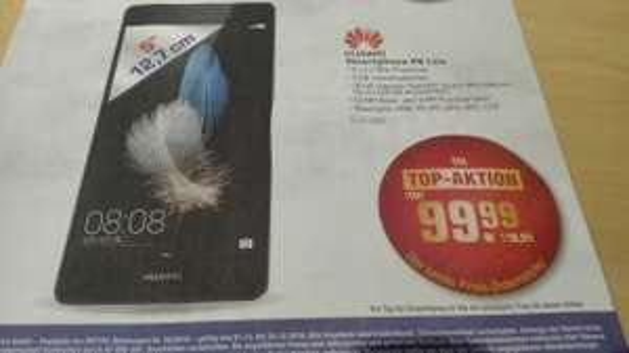 Huawei P8 Lite - Preissturz