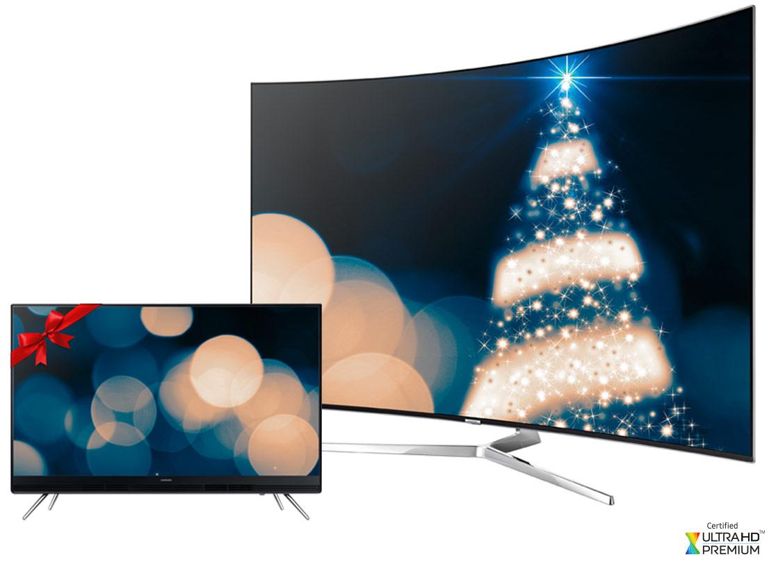 """Samsung Weihnachts-Duo - SUHD TV kaufen + 32"""" TV gratis dazu"""