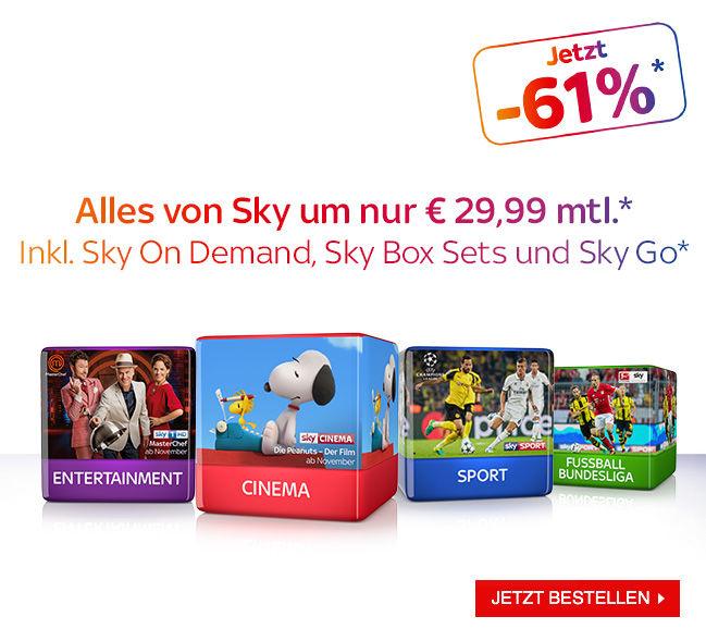 [Sky] 29,99 € für das Gesamtpaket - 12 Monate gültig