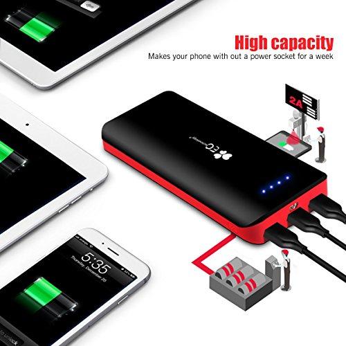 EC Technology 22400 mAh Externer Akku mit 3 USB Ausgangen