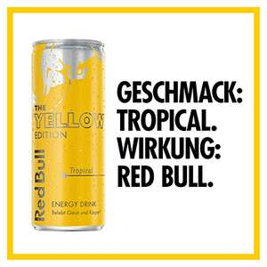 [AMAZON] Red Bull Yellow Edition Tropical im 12er Pack ab 6,44€ (0,54€ pro Dose) im Spar-Abo