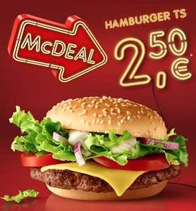 "McDonald's ""McDeal"": Hamburger Royal TS um 2,50 € - 1.12 bis 31.12.2016"
