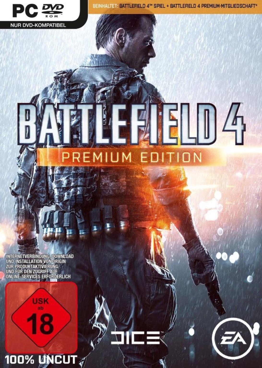 Battlefield 4 Premium (Origin PC Code) um 5,90 € - statt 24 €