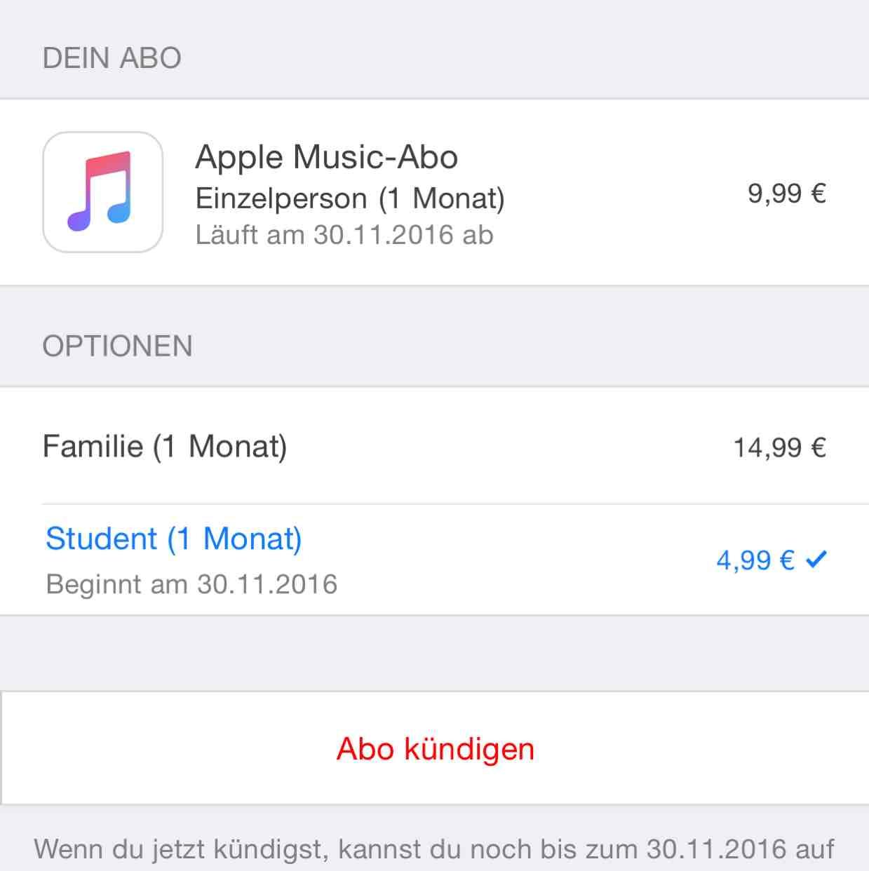 Apple Music Studentenabo jetzt auch in Österreich