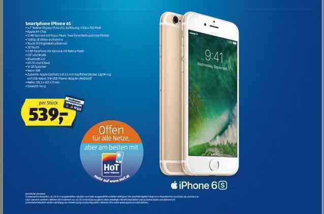 iPhone 6S (16gb) - Hofer am 8.12
