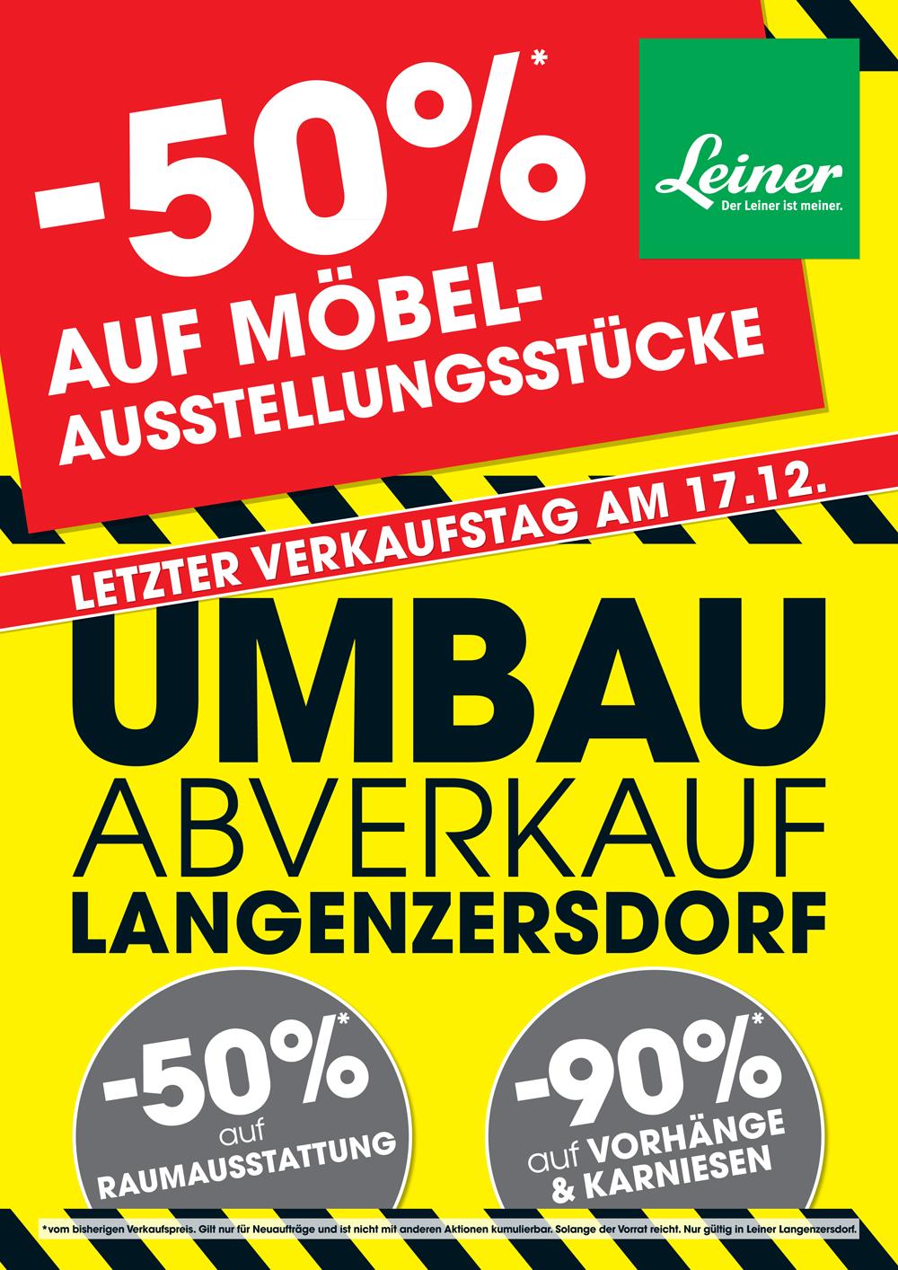 Leiner Langenzersdorf schließt - Abverkauf bis -50%