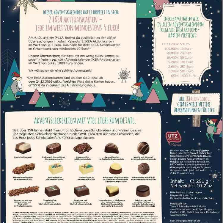 IKEA Adventkalender 2+1 Gratis um 25,98€ inkl mind 30€ Gutschein