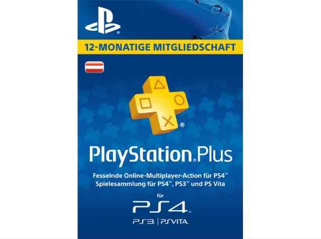 SATURN ONLINE: PlayStation Plus Mitgliedschaft - 12 Monate [PS4, PS3, PS Vita PSN Code - österreichisches Konto] [PS3 + PSP]