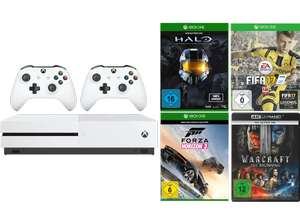 Xbox One S + 2 Controller + 3 Spiele + Warcraft 4K BluRay